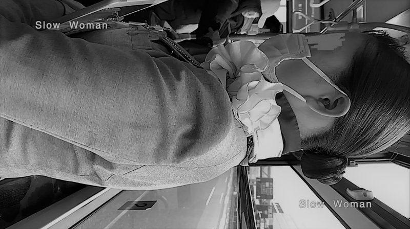 PcolleレビューGcolleパンチラSlow Woman魅惑のCAさん51☆ボカシ無し顔マスク姿CAさん!再びCAパラダイス^ ^-14