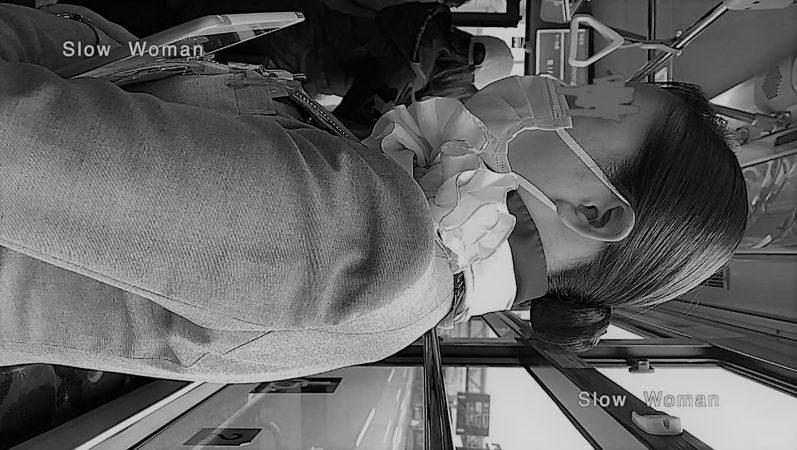 PcolleレビューGcolleパンチラSlow Woman魅惑のCAさん51☆ボカシ無し顔マスク姿CAさん!再びCAパラダイス^ ^-15