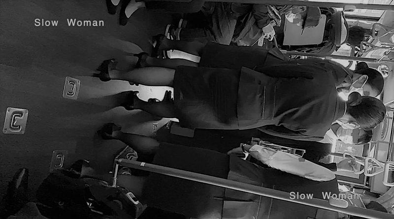 PcolleレビューGcolleパンチラSlow Woman魅惑のCAさん51☆ボカシ無し顔マスク姿CAさん!再びCAパラダイス^ ^-1