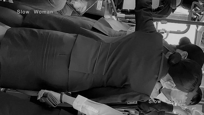 PcolleレビューGcolleパンチラSlow Woman魅惑のCAさん51☆ボカシ無し顔マスク姿CAさん!再びCAパラダイス^ ^-3