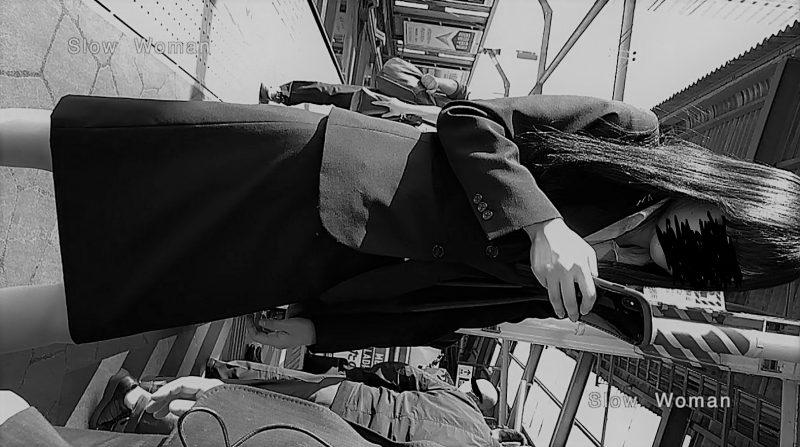 PcolleレビューGcolleパンチラSlow Woman【顔出リメイク】リクルートSP14☆お尻突き出しリクスちゃん!連続大興奮の美脚観察^ ^-10