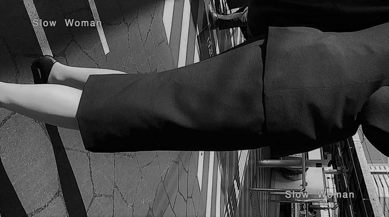 PcolleレビューGcolleパンチラSlow Woman【顔出リメイク】リクルートSP14☆お尻突き出しリクスちゃん!連続大興奮の美脚観察^ ^-1